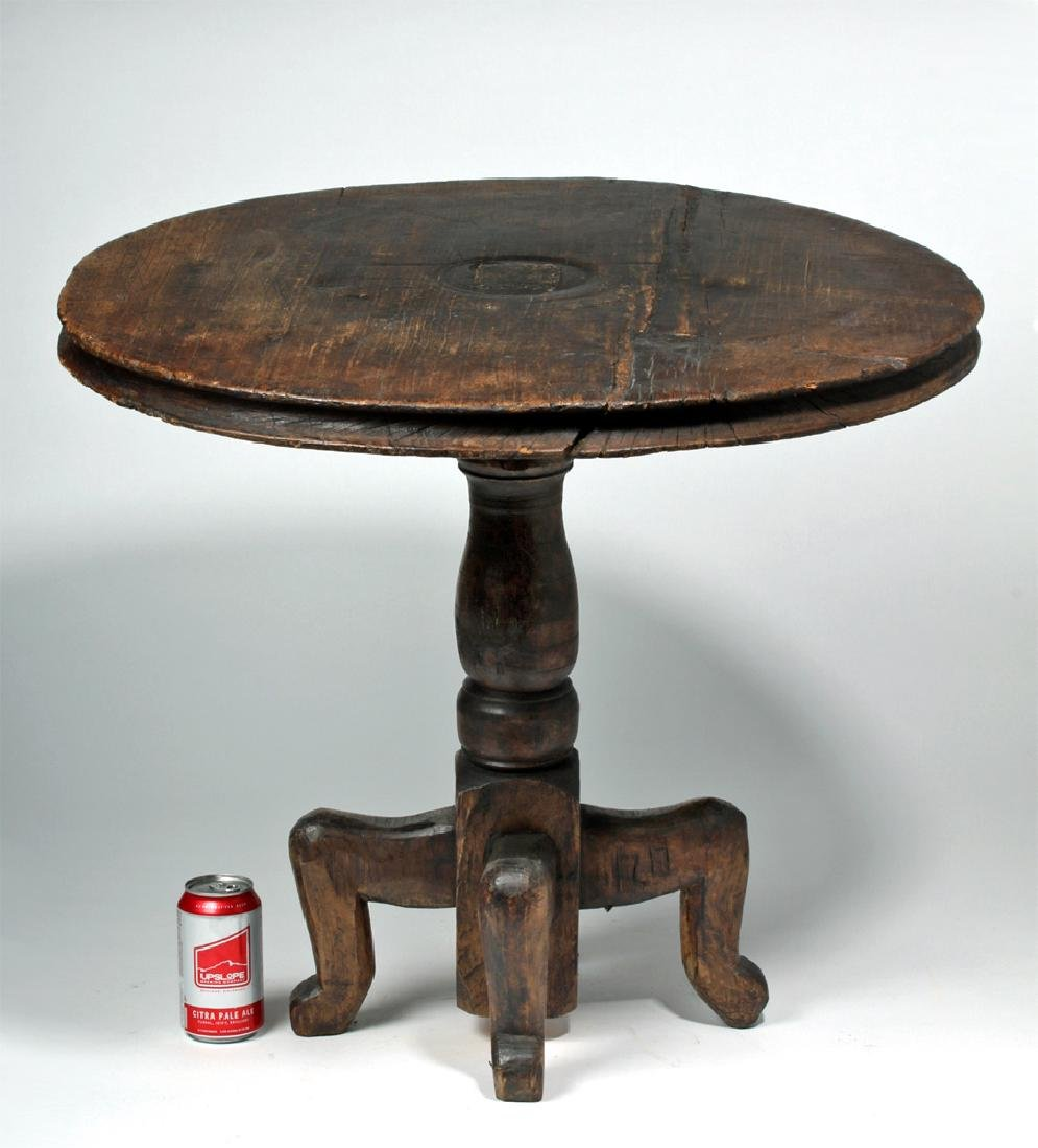 18th C. Gorgeous Mexican Dark Wood Table