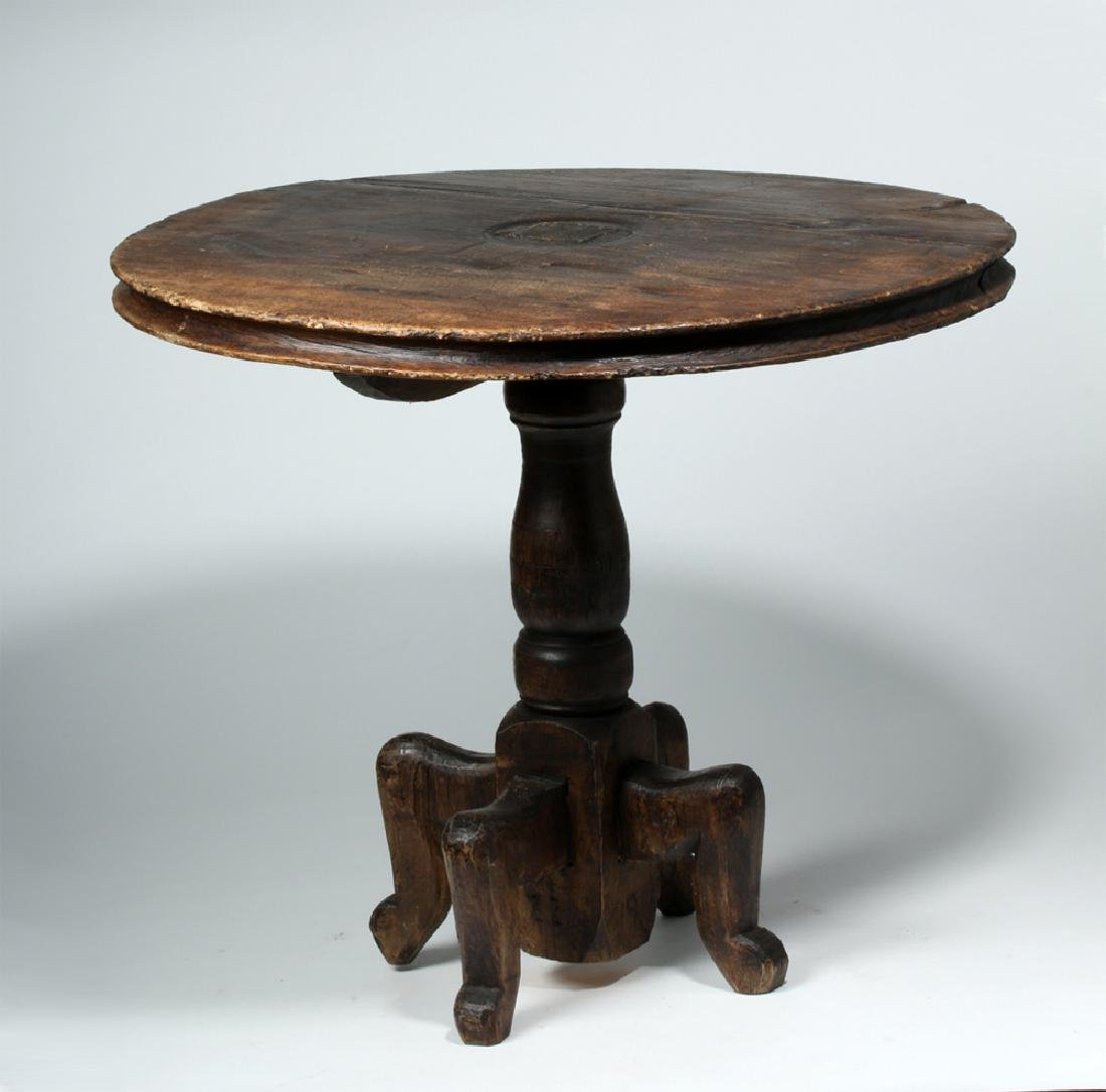 18th C. Gorgeous Mexican Dark Wood Table - 2