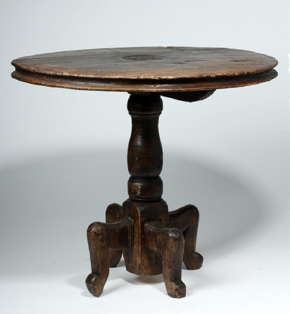 18th C. Gorgeous Mexican Dark Wood Table - 3