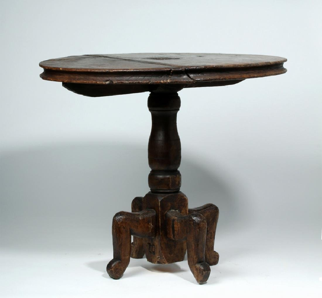18th C. Gorgeous Mexican Dark Wood Table - 4