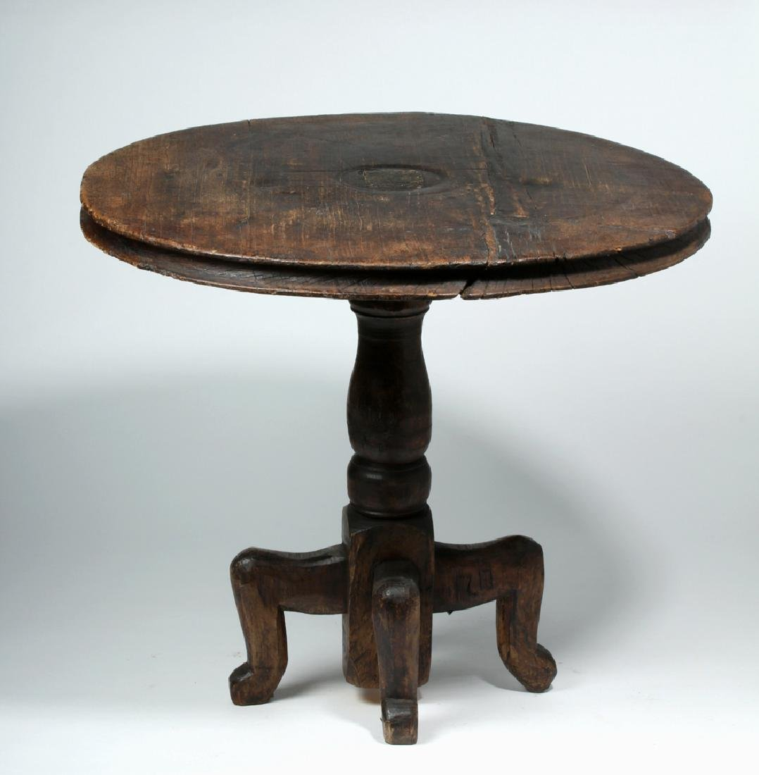 18th C. Gorgeous Mexican Dark Wood Table - 5