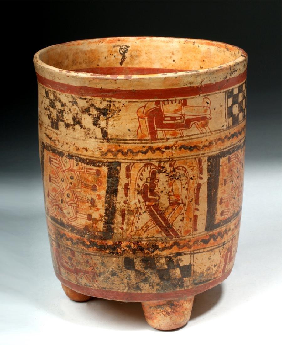 Mayan Ulua Valley Polychrome Cylinder
