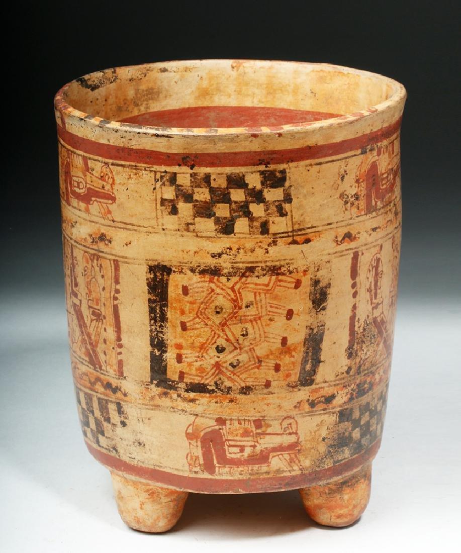 Mayan Ulua Valley Polychrome Cylinder - 2