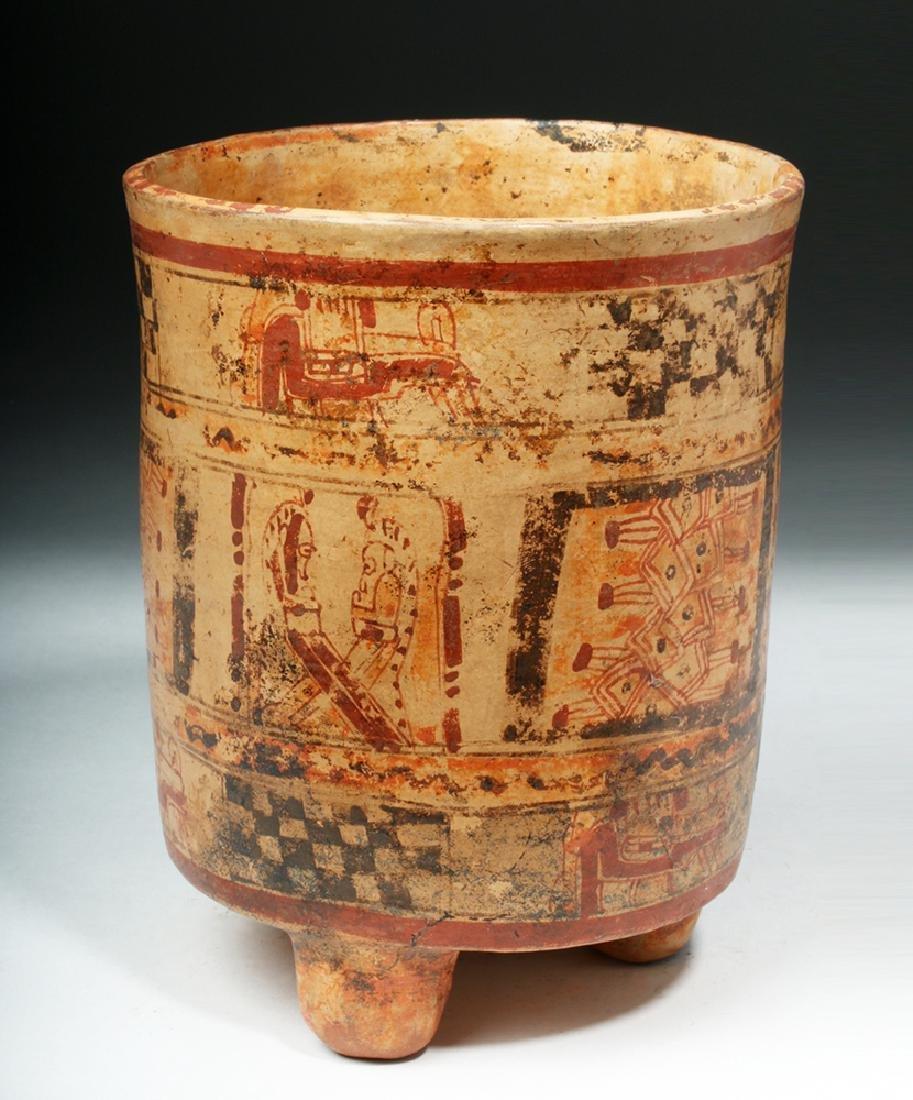 Mayan Ulua Valley Polychrome Cylinder - 3