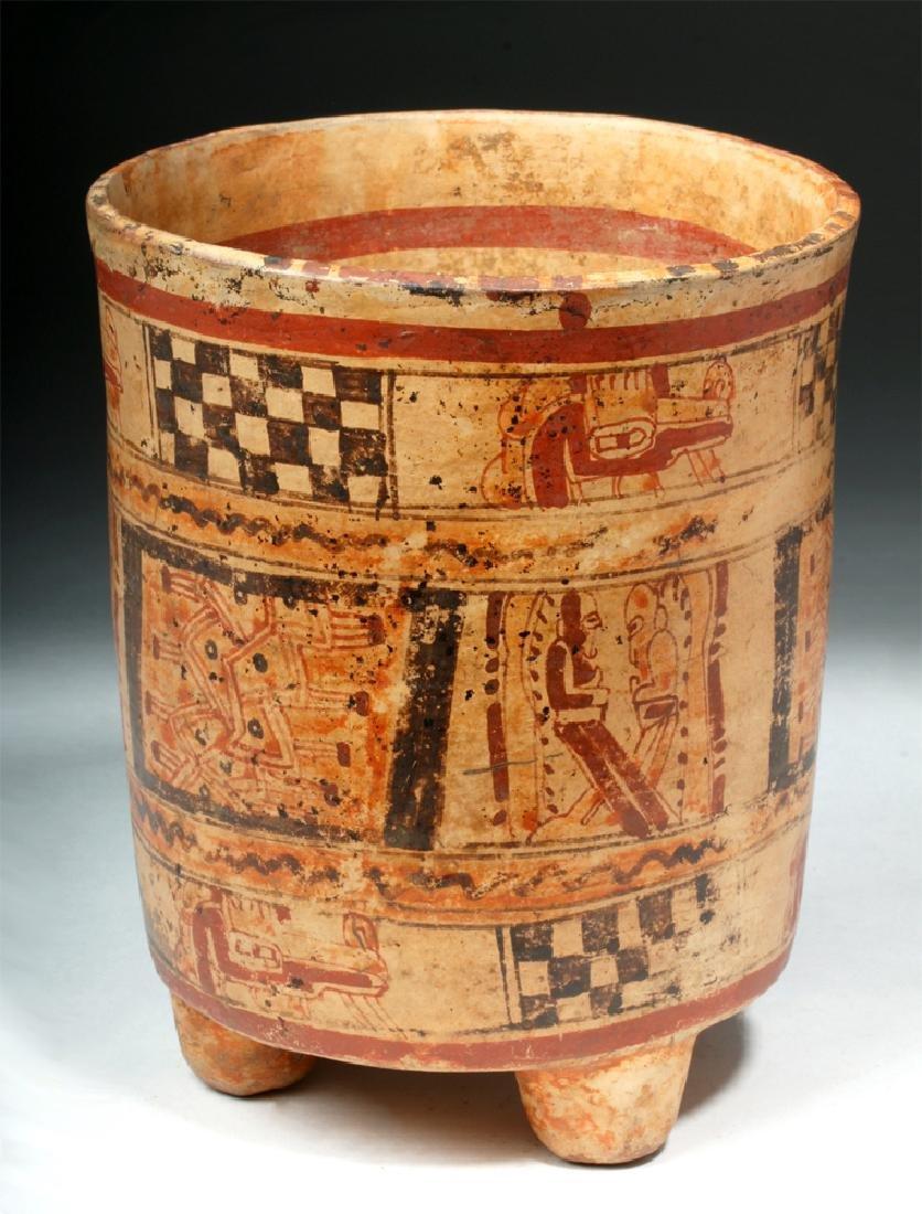 Mayan Ulua Valley Polychrome Cylinder - 4