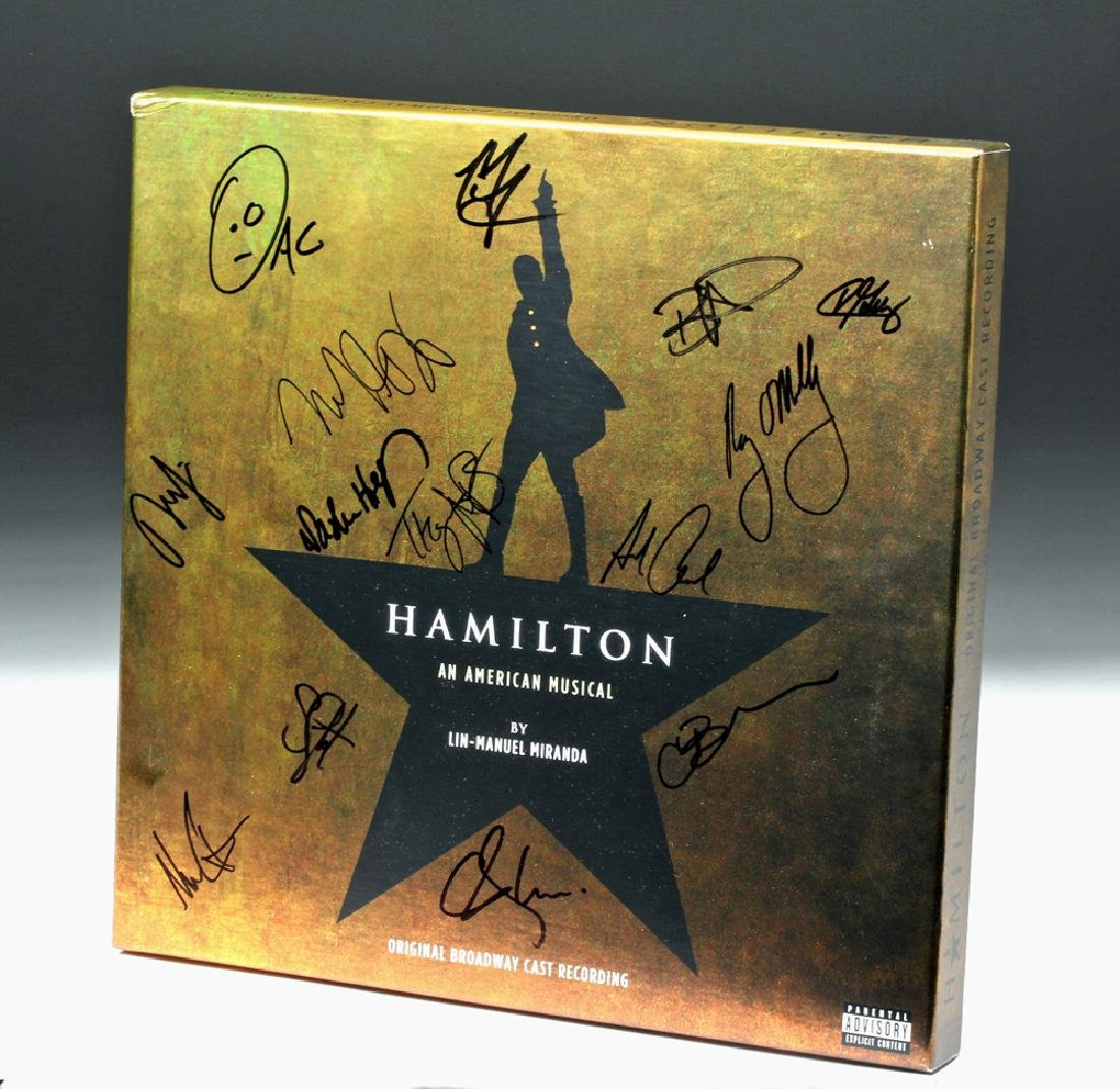 Signed 'Hamilton' Original Broadway Cast LP Recording