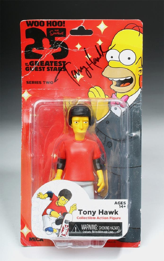 Signed Tony Hawk Simpsons Action Figure, One of a Kind!