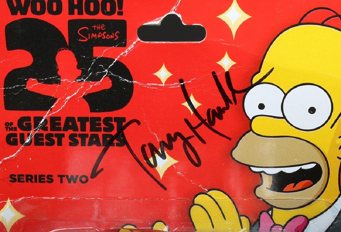 Signed Tony Hawk Simpsons Action Figure, One of a Kind! - 2