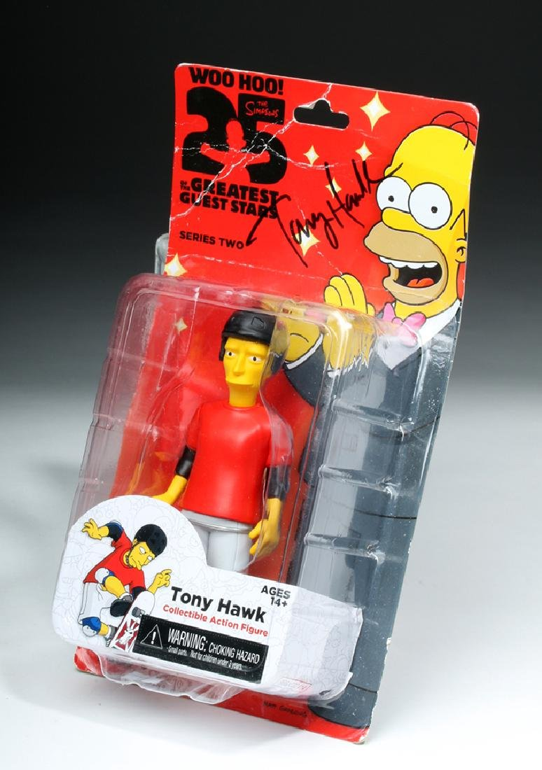 Signed Tony Hawk Simpsons Action Figure, One of a Kind! - 3