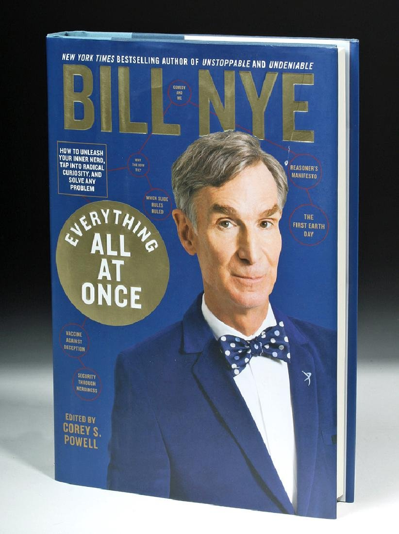 """Signed Bill Nye Book - """"Everything All at Once"""""""