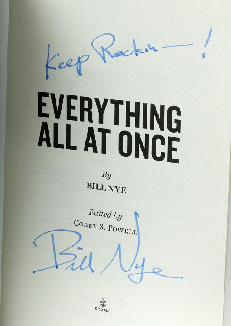 """Signed Bill Nye Book - """"Everything All at Once"""" - 2"""