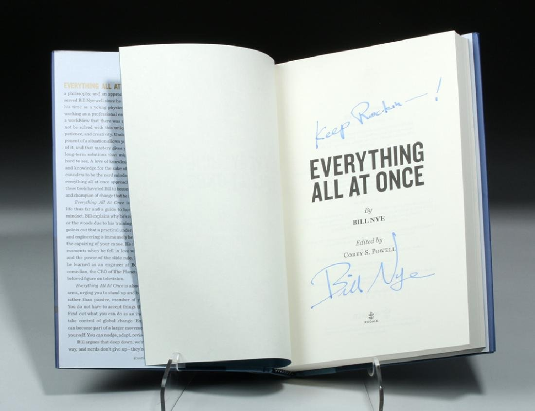 """Signed Bill Nye Book - """"Everything All at Once"""" - 3"""