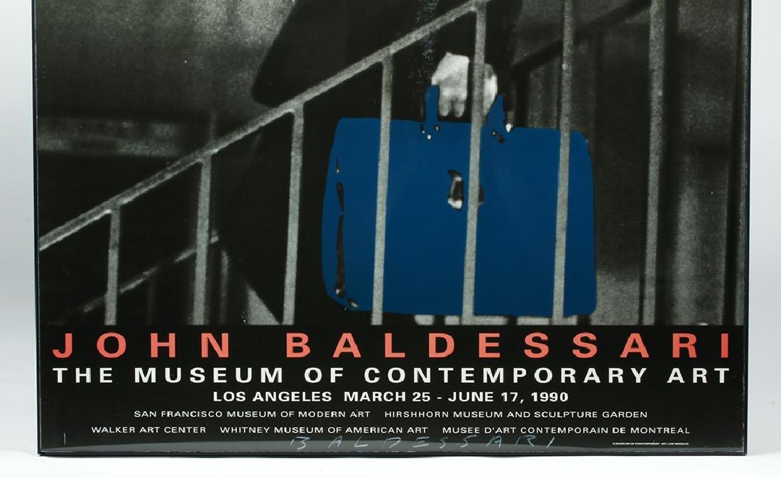 Autographed J. Baldessari  LA MOCA Poster - 2