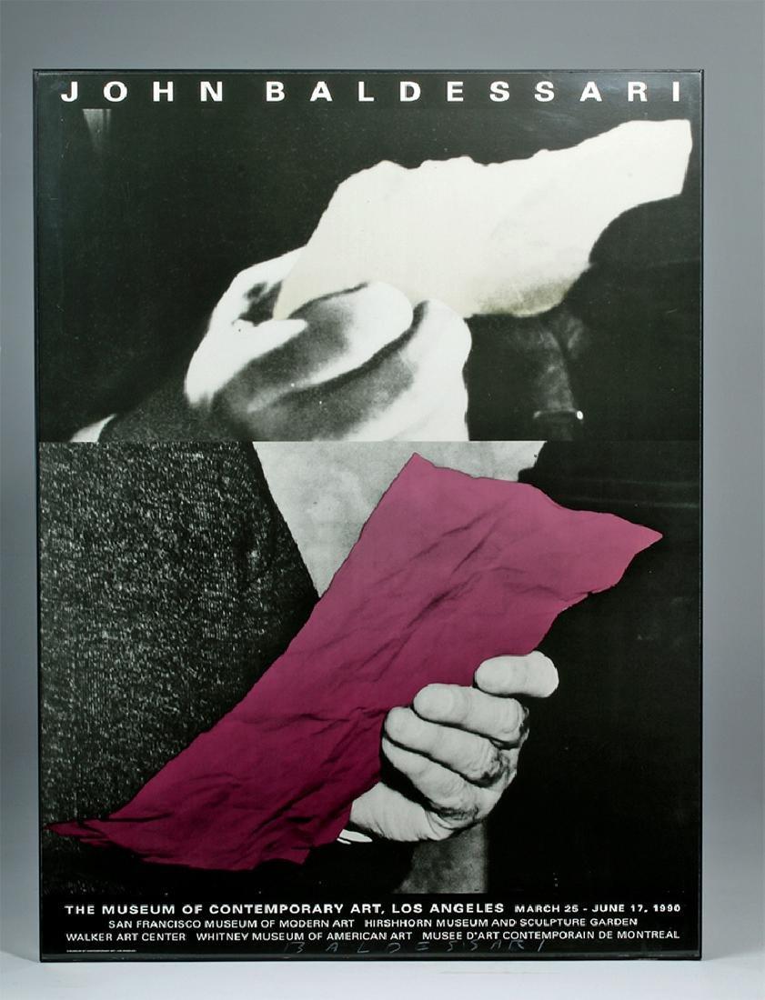 Autographed 1990 J. Baldessari  LA MOCA Poster