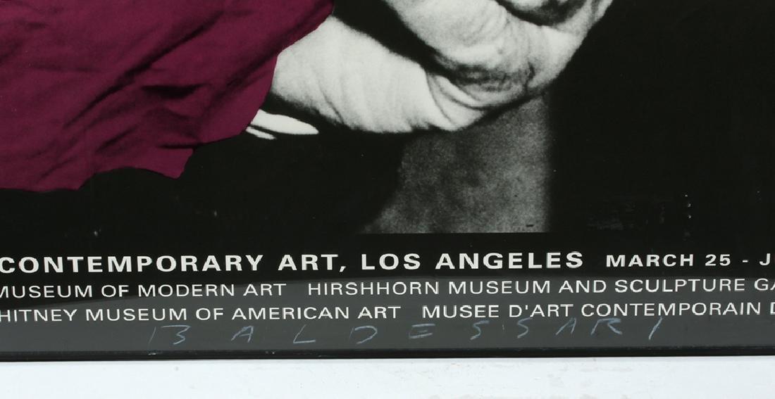 Autographed 1990 J. Baldessari  LA MOCA Poster - 2