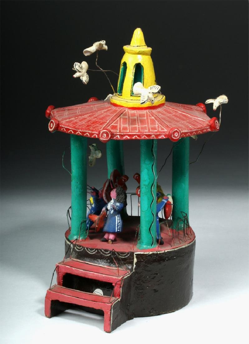 Vintage 20th C. Mexican Pottery & Wire Bandstand - 2