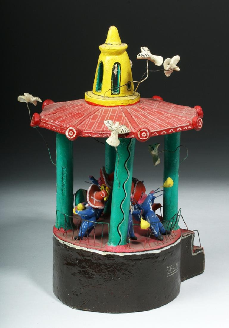 Vintage 20th C. Mexican Pottery & Wire Bandstand - 3