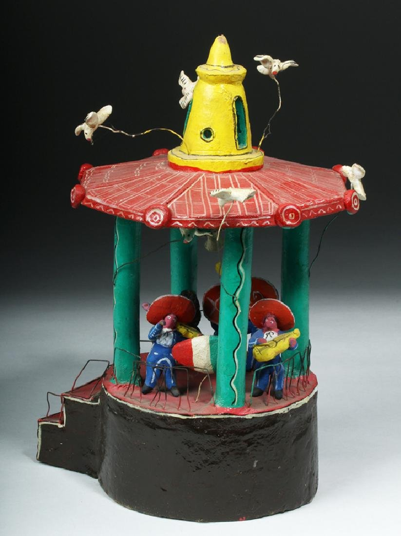 Vintage 20th C. Mexican Pottery & Wire Bandstand - 4