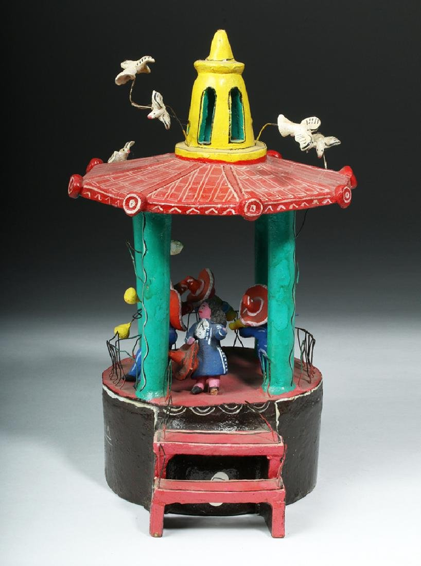Vintage 20th C. Mexican Pottery & Wire Bandstand - 5