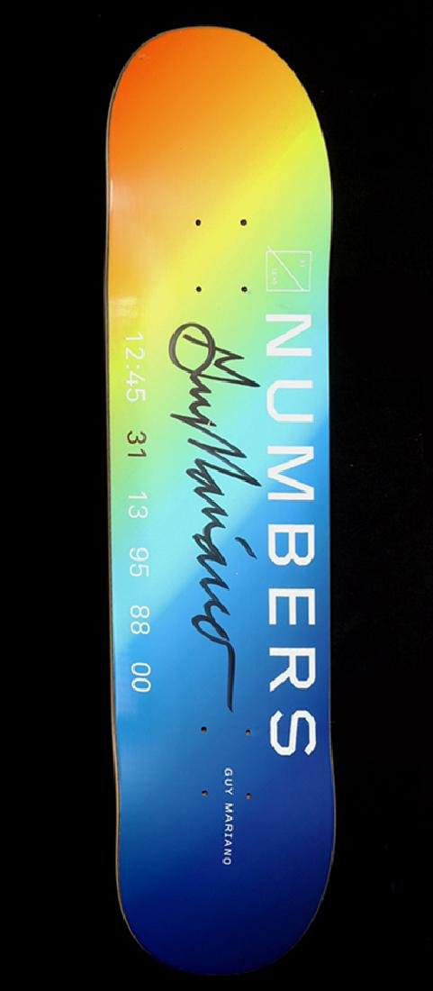 Signed Guy Mariano 2016 Numbers Skate Board
