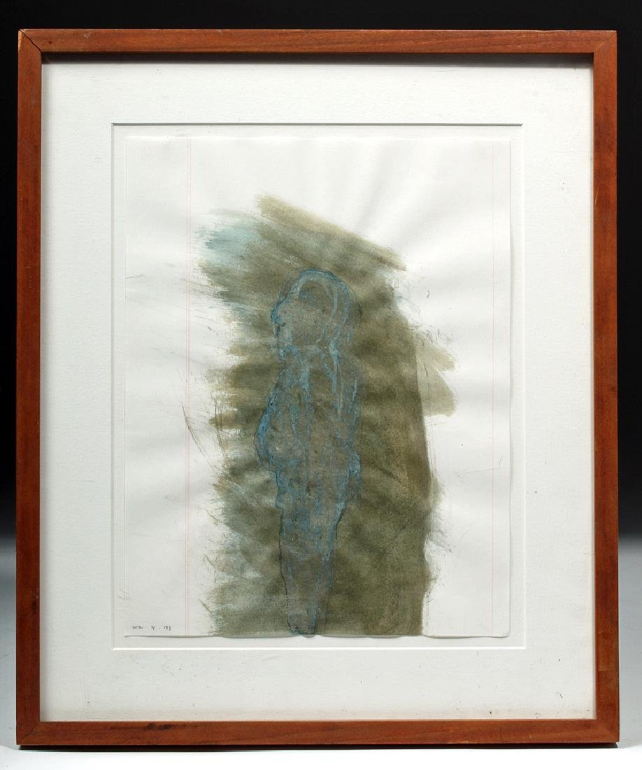 Win Knowlton Ink Drawing, NY Artist in the 1990's