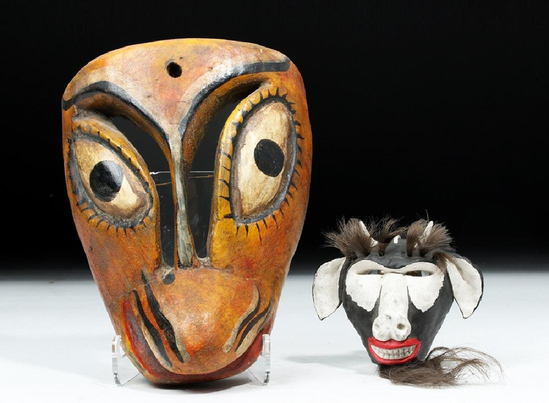 20th C. Mexican Painted Wood Masks - Animals - 2