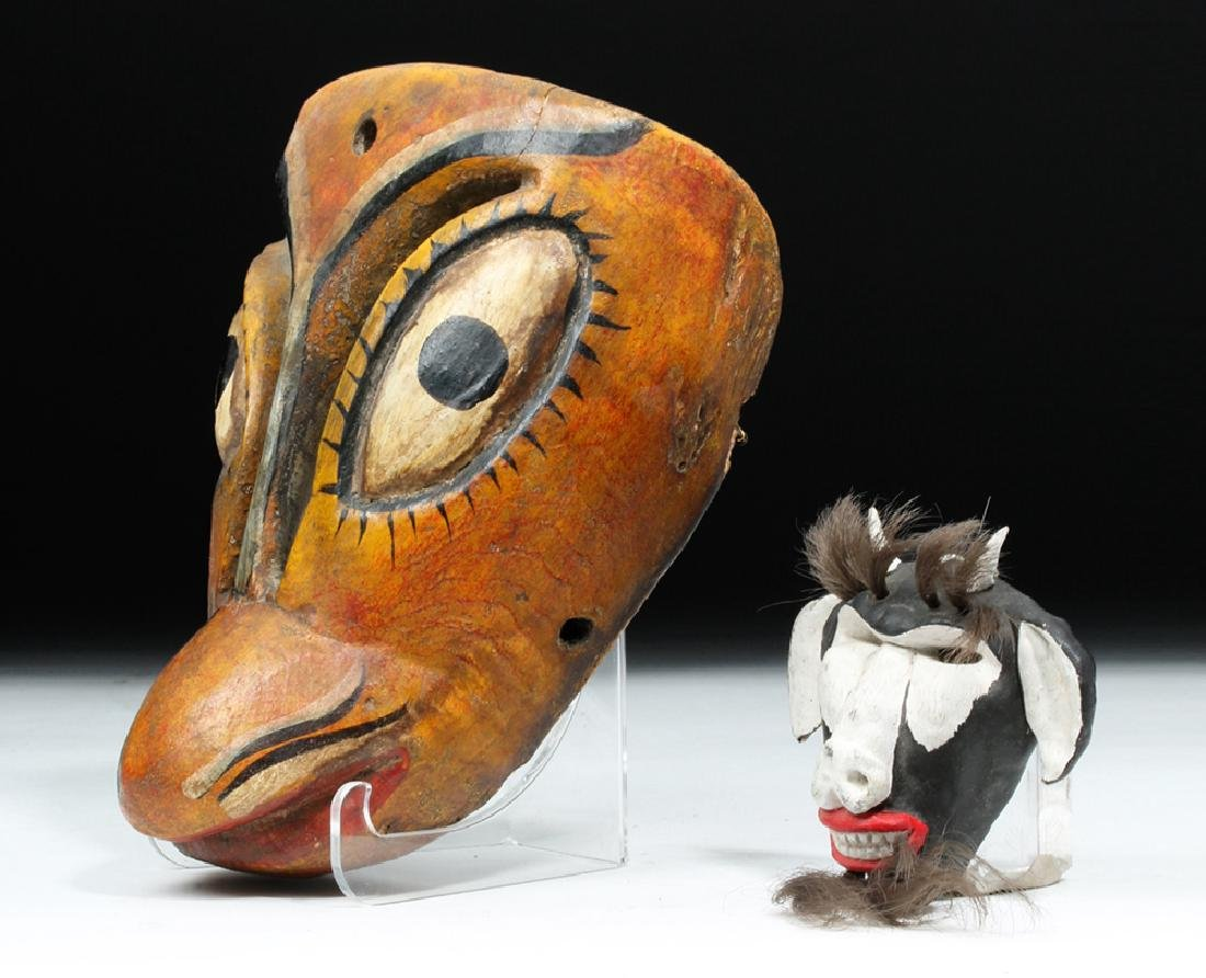 20th C. Mexican Painted Wood Masks - Animals - 3