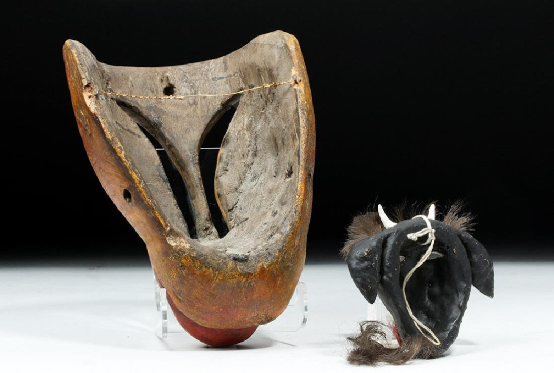 20th C. Mexican Painted Wood Masks - Animals - 4