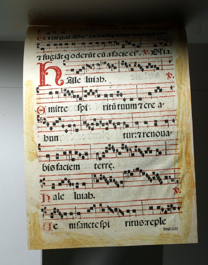 16th C. Italian Hymnal Leaf - Petri Liechtenstein - 2