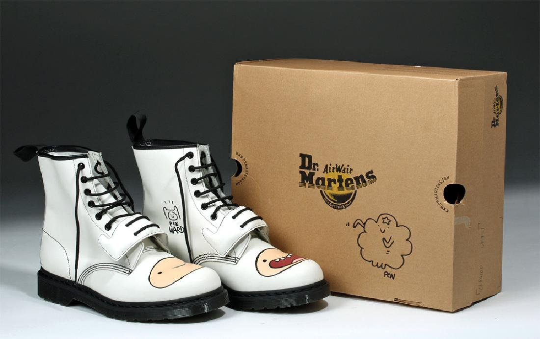 Adventure Time Doc Martens Signed by Pendleton Ward