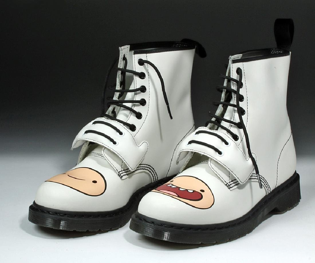 Adventure Time Doc Martens Signed by Pendleton Ward - 4