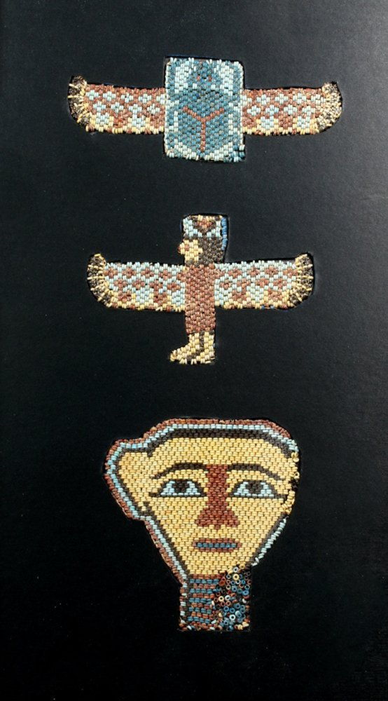 Important Egyptian Beaded Mask Set - Original Stringing
