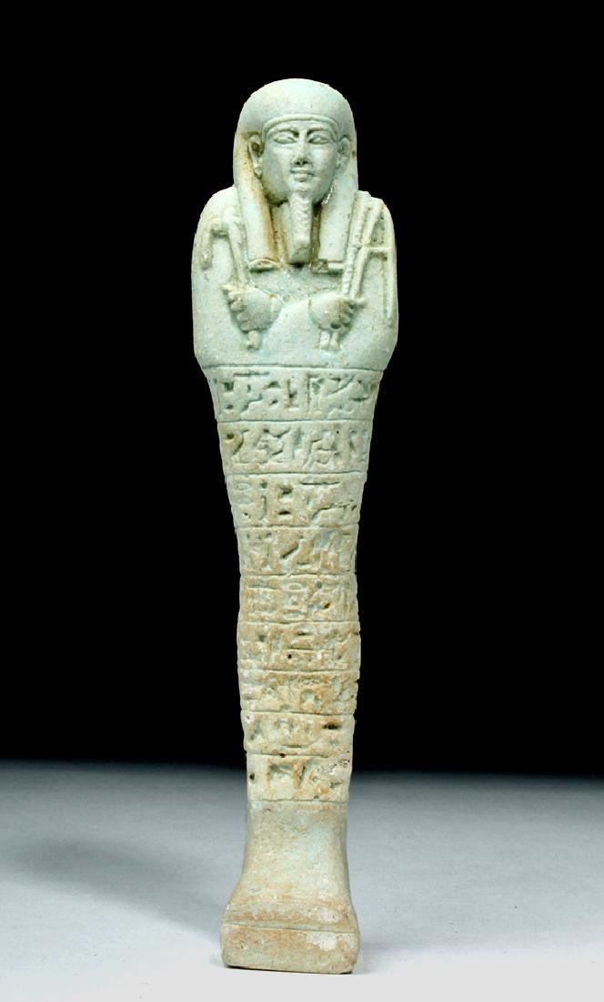 Tall Egyptian Late Dynastic Ushabti - Beautiful Color