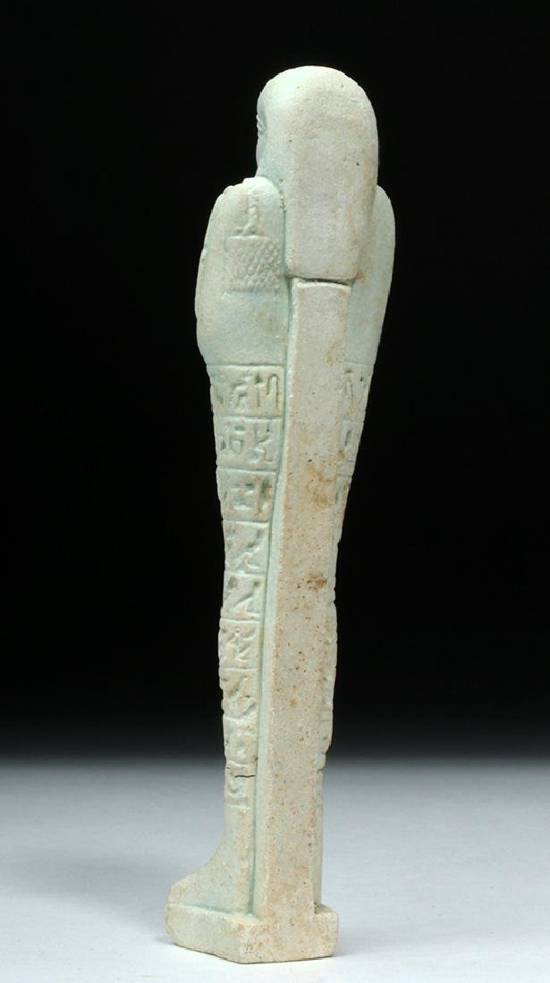 Tall Egyptian Late Dynastic Ushabti - Beautiful Color - 3