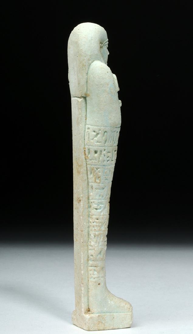 Tall Egyptian Late Dynastic Ushabti - Beautiful Color - 4
