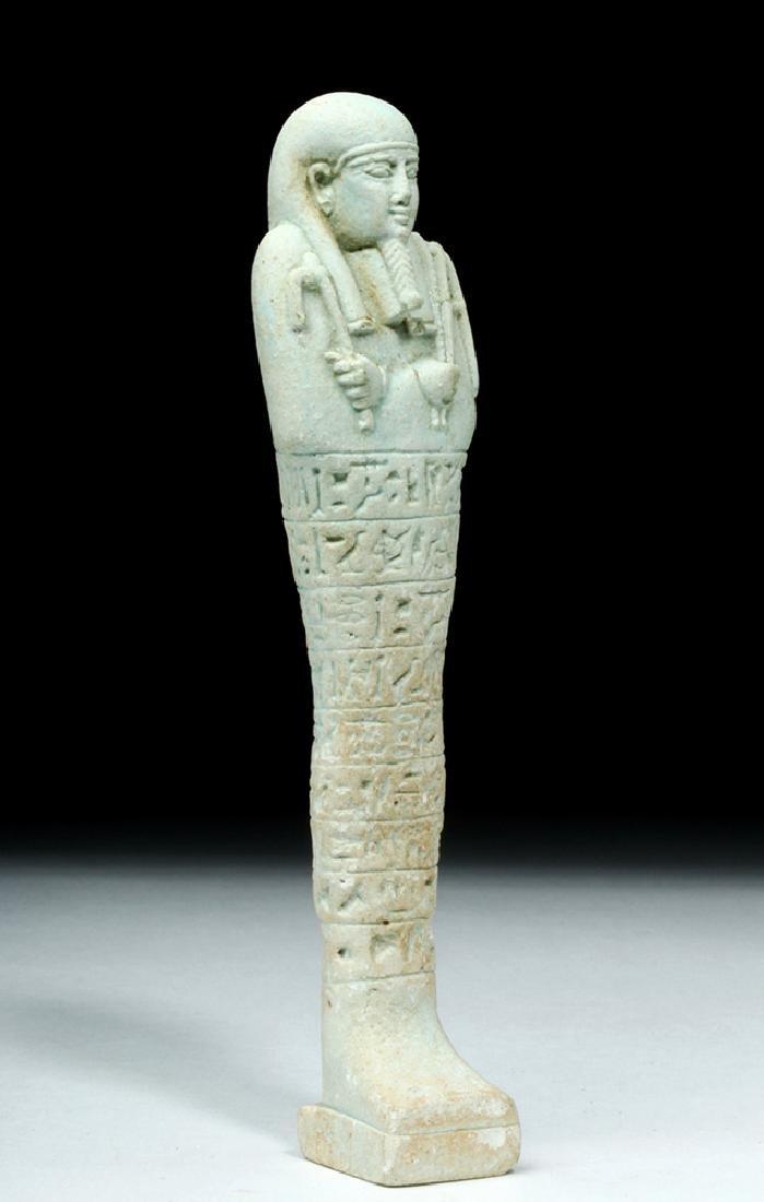Tall Egyptian Late Dynastic Ushabti - Beautiful Color - 5