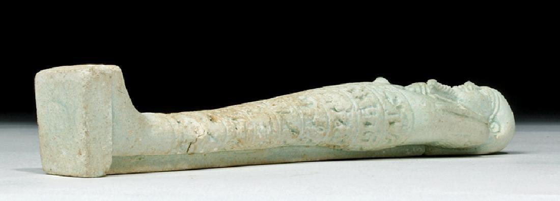 Tall Egyptian Late Dynastic Ushabti - Beautiful Color - 6