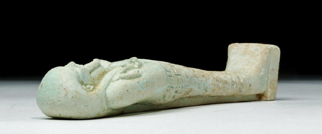 Tall Egyptian Late Dynastic Ushabti - Beautiful Color - 7