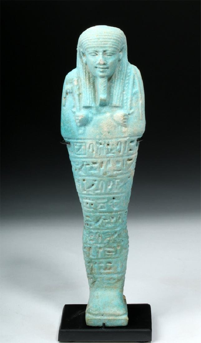 Translated Egyptian Faience Ushabti for Ipethemetes