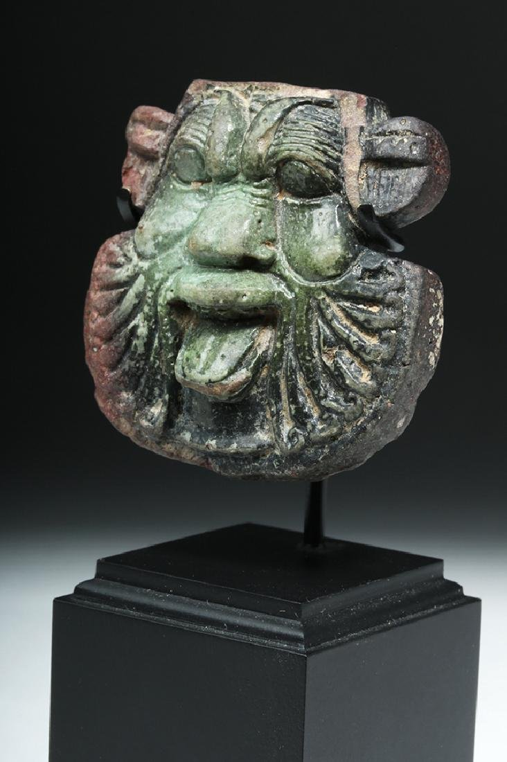 Rare Egyptian Ptolemaic Glass Frit Head of Bes - 5