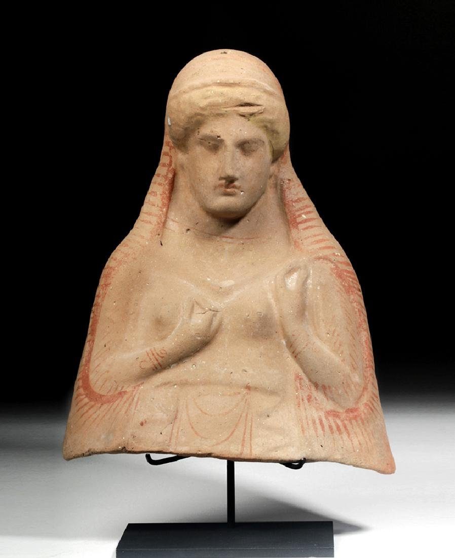 Archaic Greek Protome Bust of a Goddess, ex-Sotheby's