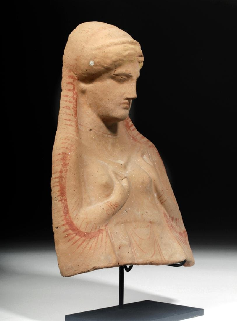 Archaic Greek Protome Bust of a Goddess, ex-Sotheby's - 5