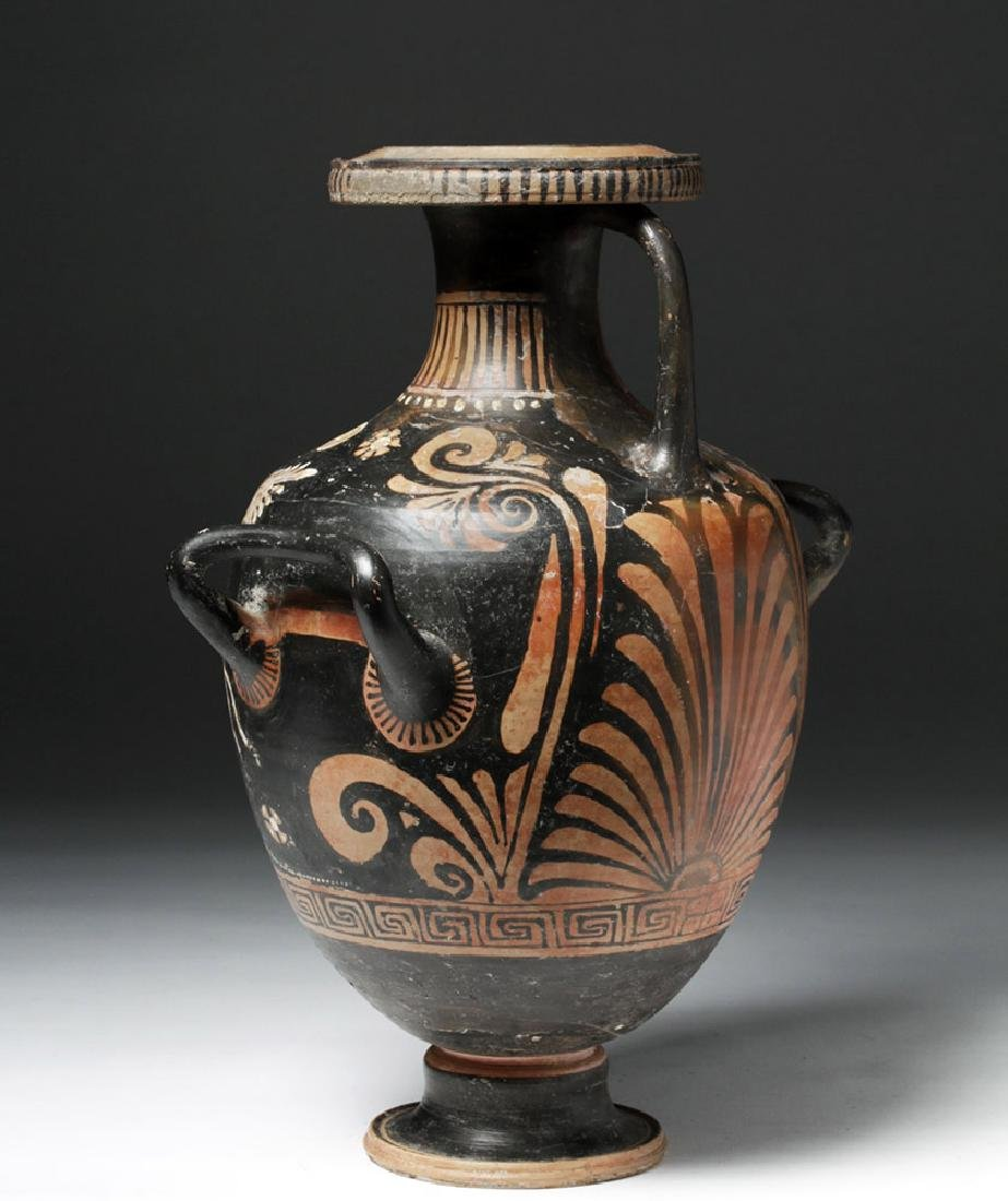 Greek Apulian Red Figure Pottery Hydria - 2
