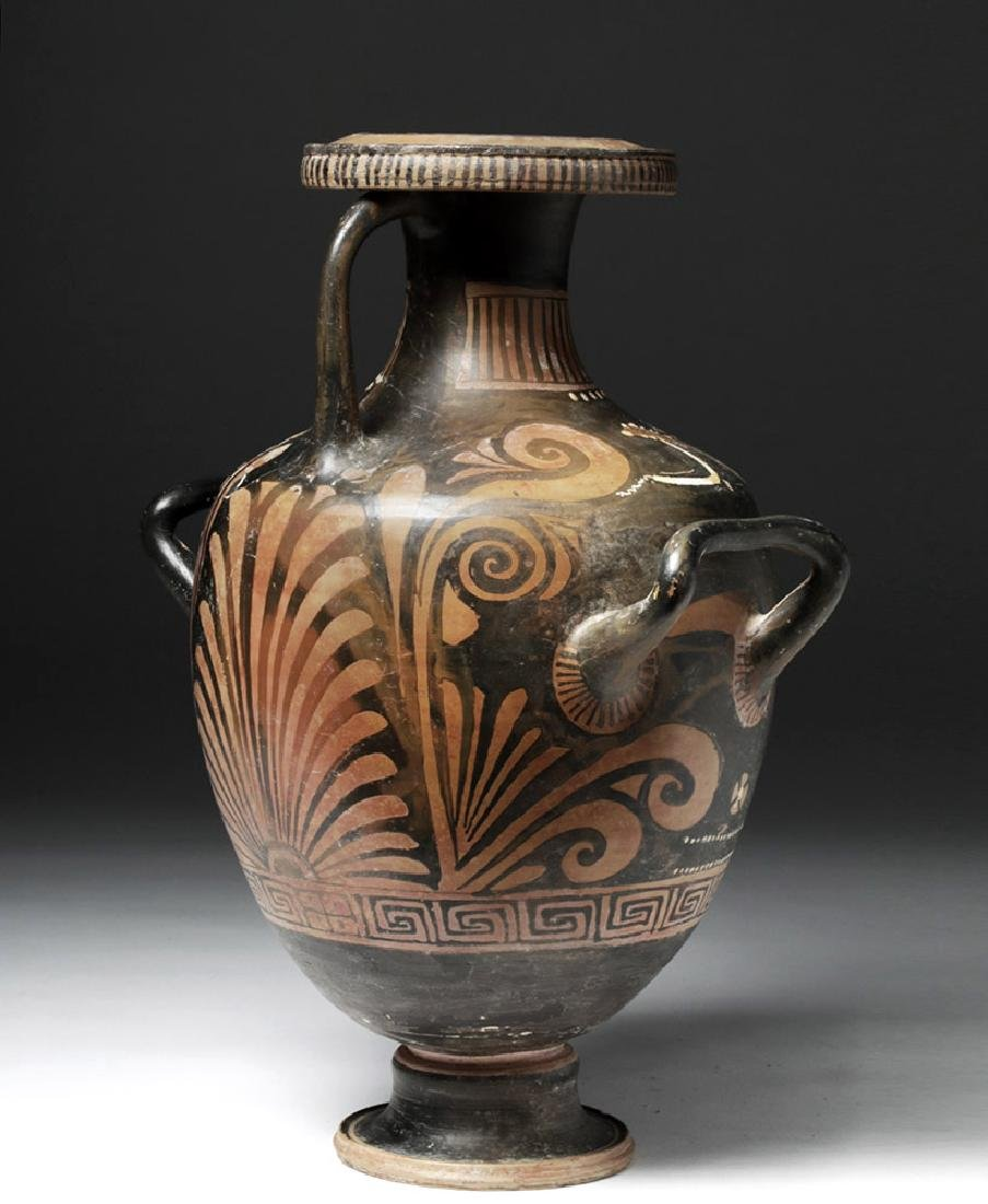 Greek Apulian Red Figure Pottery Hydria - 3