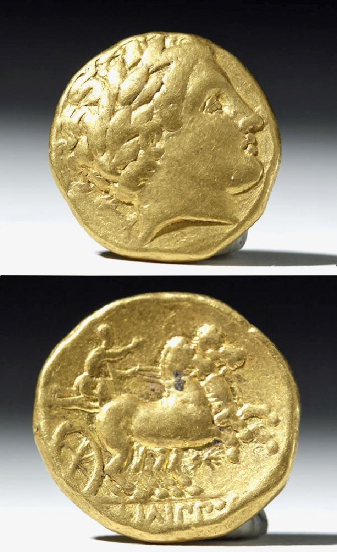 Kings of Macedon, Philip II, Gold Stater