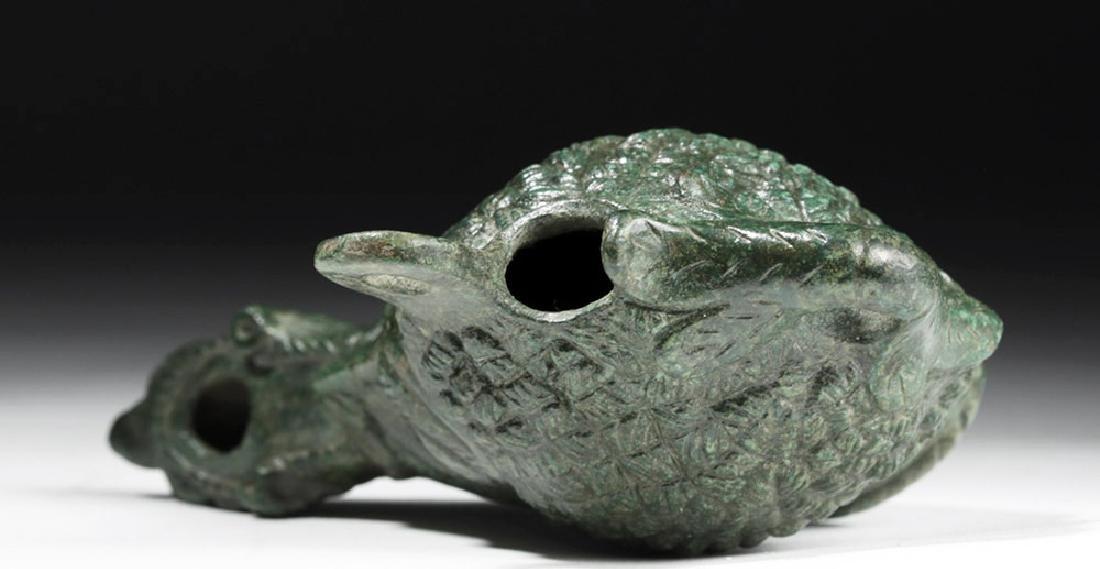 Exceptional Roman Bronze Oil Lamp - Nubian - 5