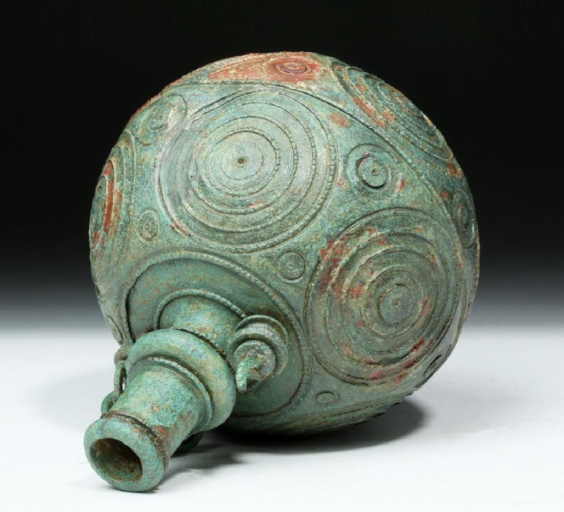 Roman Bronze Spherical Balsamarium - 6