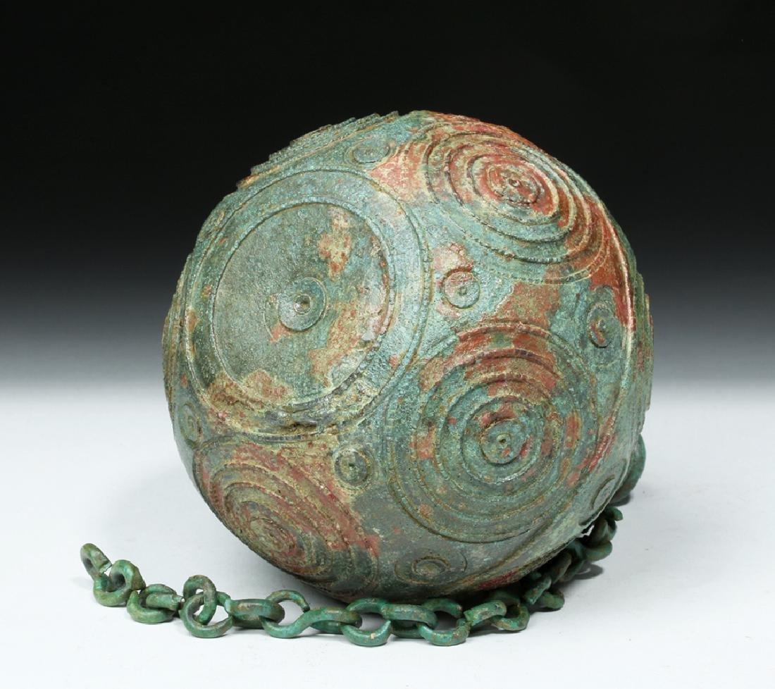Roman Bronze Spherical Balsamarium - 7