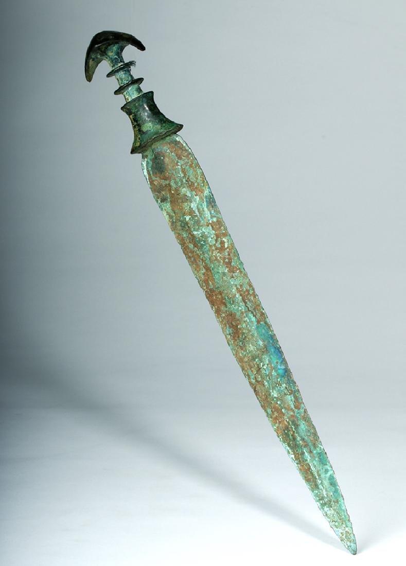 Beautiful Luristan Bronze Short Sword - 4