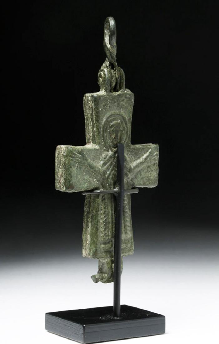 Ancient Byzantine Bronze Reliquary Cross - 2